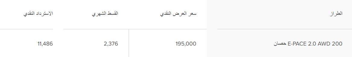 تخفيضات Jaguar السعودية E-PACE 2020